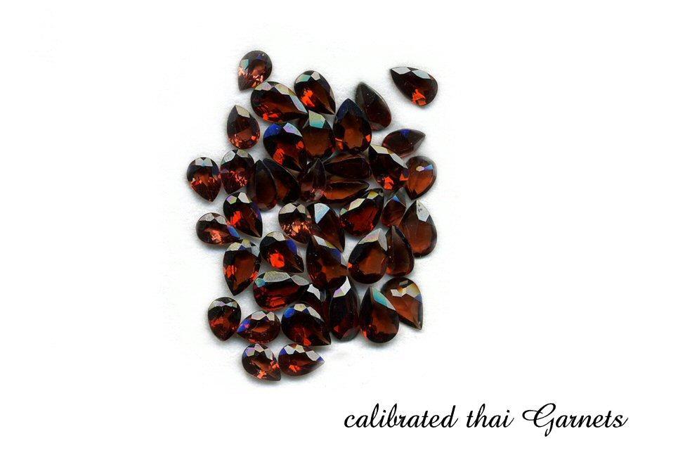 calibrated thai garnets