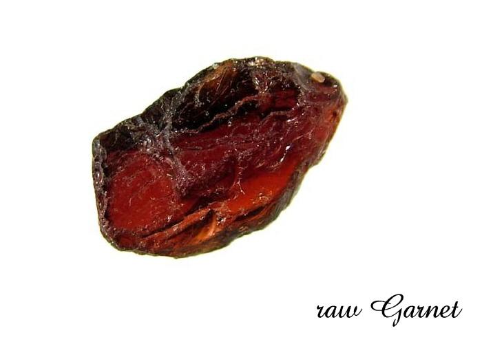 raw garnet