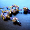 amethyst & pearls earrings