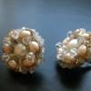 rose pearl cluster earrings (1)
