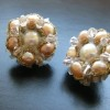 rose pearl cluster earrings (2)