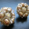 rose pearl cluster earrings (3)