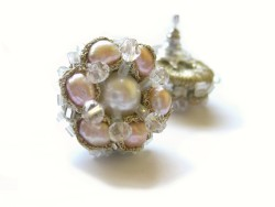 rose pearl cluster earrings (5)