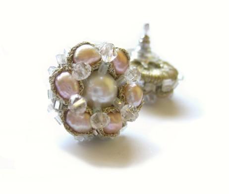 rose pearl cluster earrings (5)