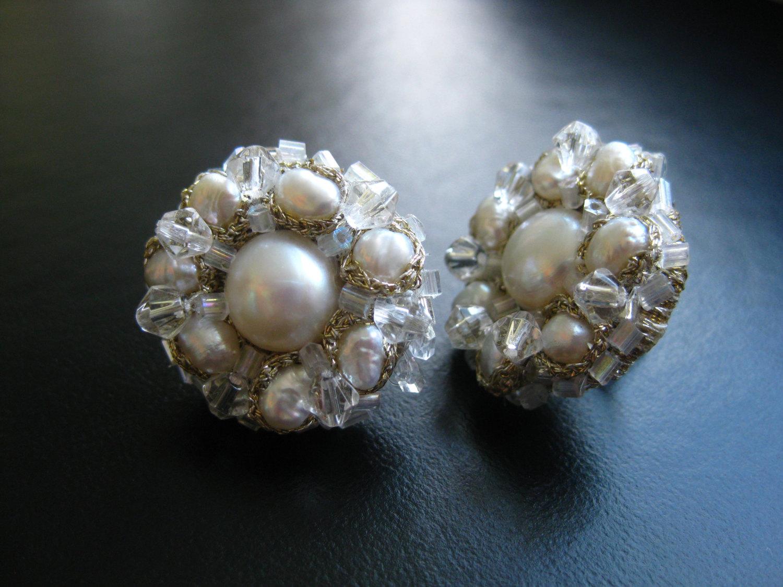 White Pearl Daisy Earrings Maya Ot Raya S Shop
