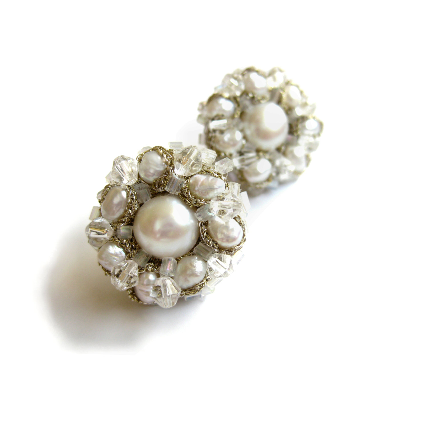 White pearl daisy earrings maya ot raya 39 s shop for White pearl