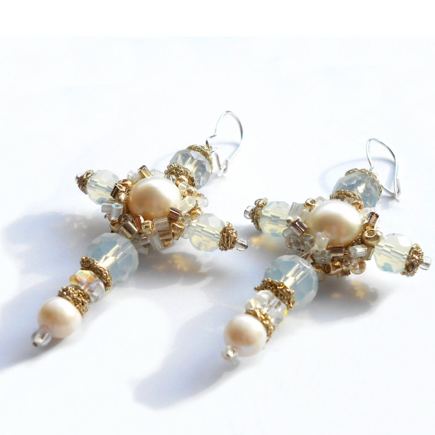 pearl leaf pearls freshadama earrings collection products earring